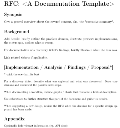 Example structure of an RFC document